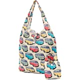 6e93db17a75a Camper Van Printed 100% Cotton Designer Fabric Tote Shopping Carry ...