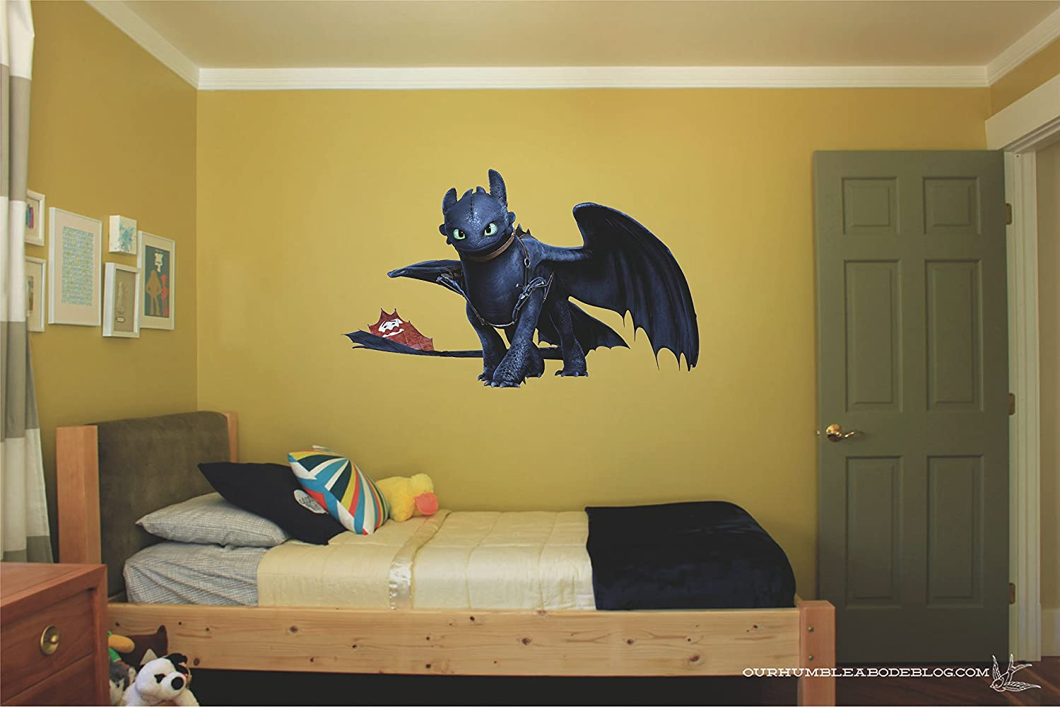 Amazon.com: Toothless how to train your dragon Night fury 3D Wall ...