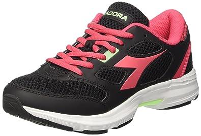Diadora Scarpa Running Sneaker Jogging Donna Shape 7 Black  bright rose 1410f3c9b16