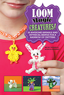 The loomatics interactive guide to the rainbow loom kindle loom magic creatures 25 awesome animals and mythical beings for a rainbow of critters fandeluxe