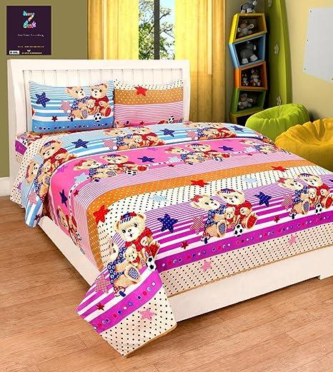 Zainhome 3d Double Bed Sheet With 2 Pillow Covers Multi Cartoon