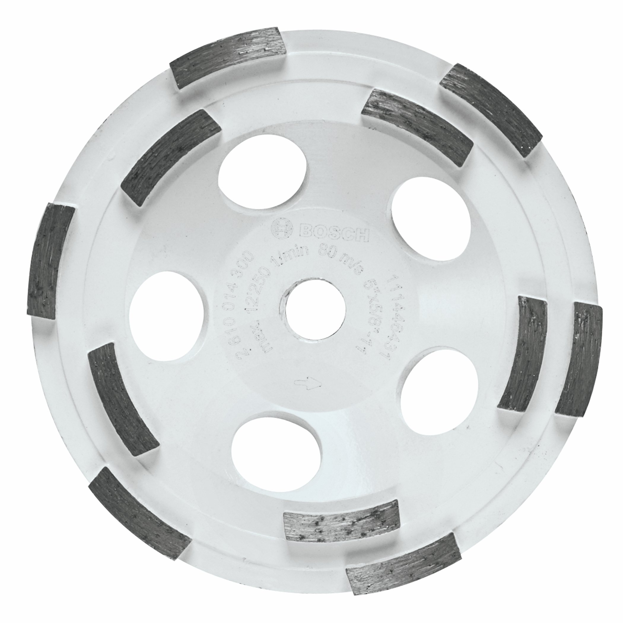 Bosch DC510H 5-Inch Diameter Double Row Diamond Cup Wheel with 5/8-11 Hub by Bosch