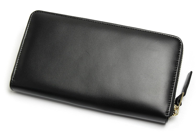 af683db68c76 Amazon | [ポールスミス] PaulSmith 長財布 ウォレット ラウンドファスナー イタリア製 ブラック レディース メンズ [並行輸入品]  | 財布