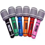 Tinksky 6pcs 24cm microfono di plastica gonfiabile partito favore bambini giocattolo regalo (colore casuale)