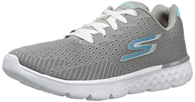 Skechers Performance Women's Go Run 400 Sole Running Shoe,Gray/Blue,5 M