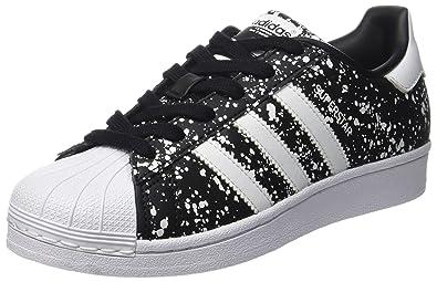 adidas Superstar, Sneakers Basses Femme, Noir Footwear White/Core Black, 36 EU