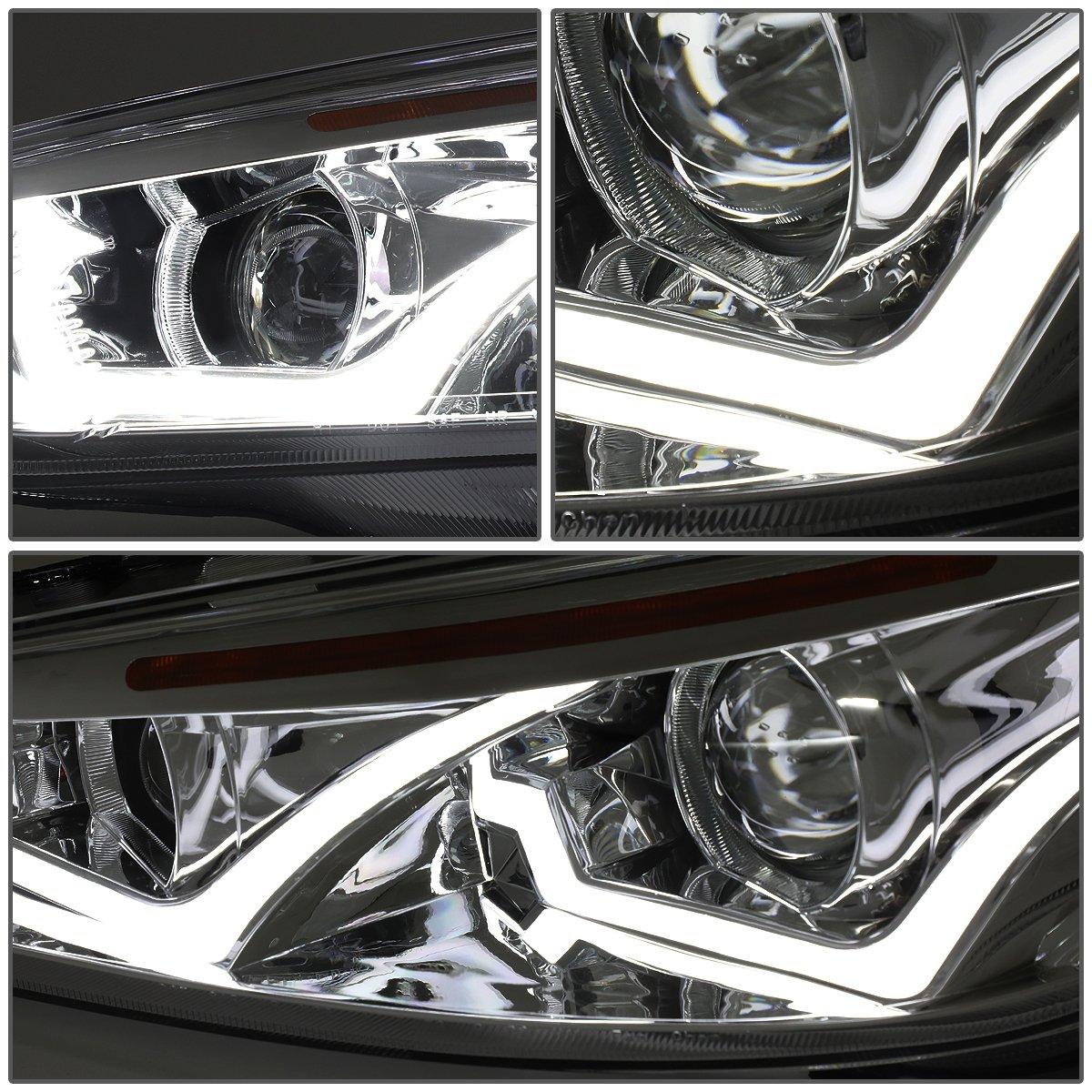 Driver /& Passenger Side DNA Motoring HL-HPL-LED-FF16-SM-AM Dual U-HALO Projector Headlight