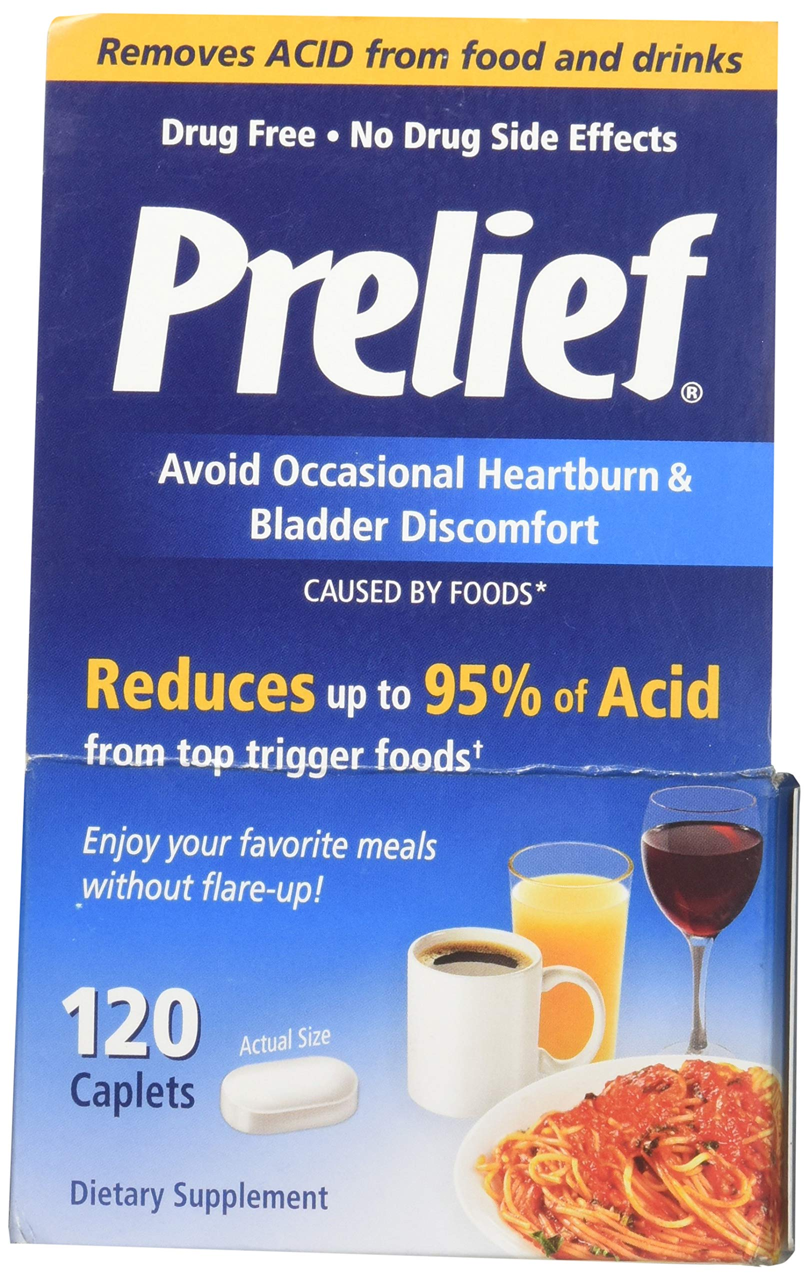 Prelief Dietary Supplement - 120 Caplets, Pack of 5 by PRELIEF
