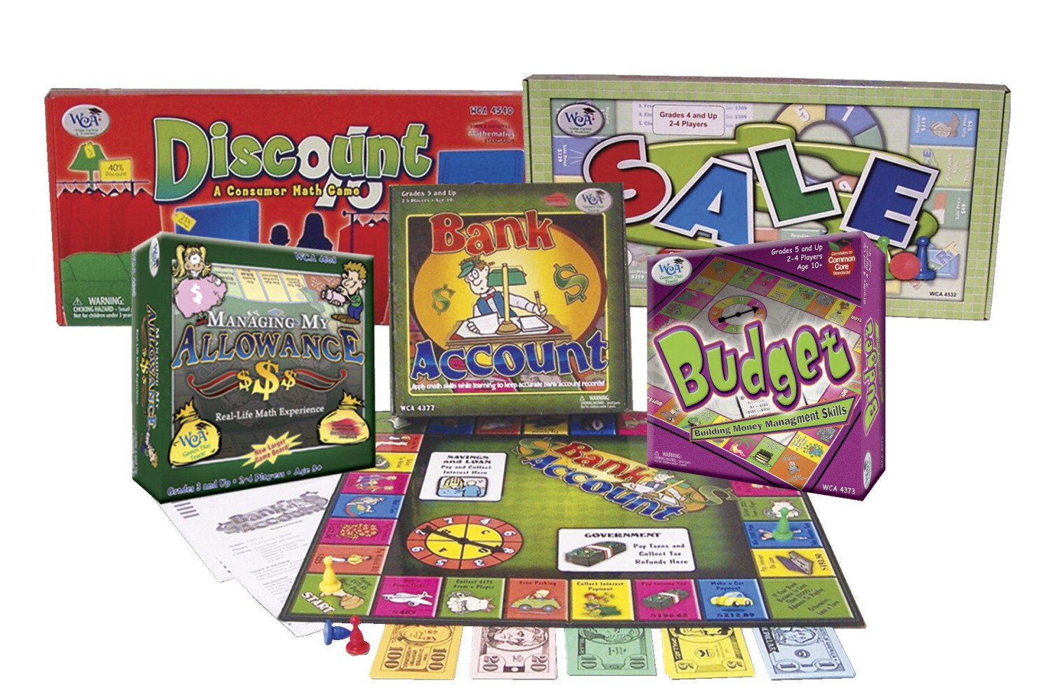 Image of WCA 4815 Managing Your Money Game Series (Pack of 5) Board Games