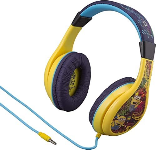 Despicable Me Minion Headphones for Kids Built in Volume Limiting Feature for Kid Friendly Safe Listening
