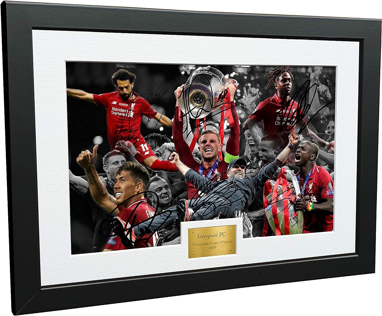 Poster Liverpool Team 2019//2020 PREMIER LEAGUE CHAMPIONS Salah Mane Klopp