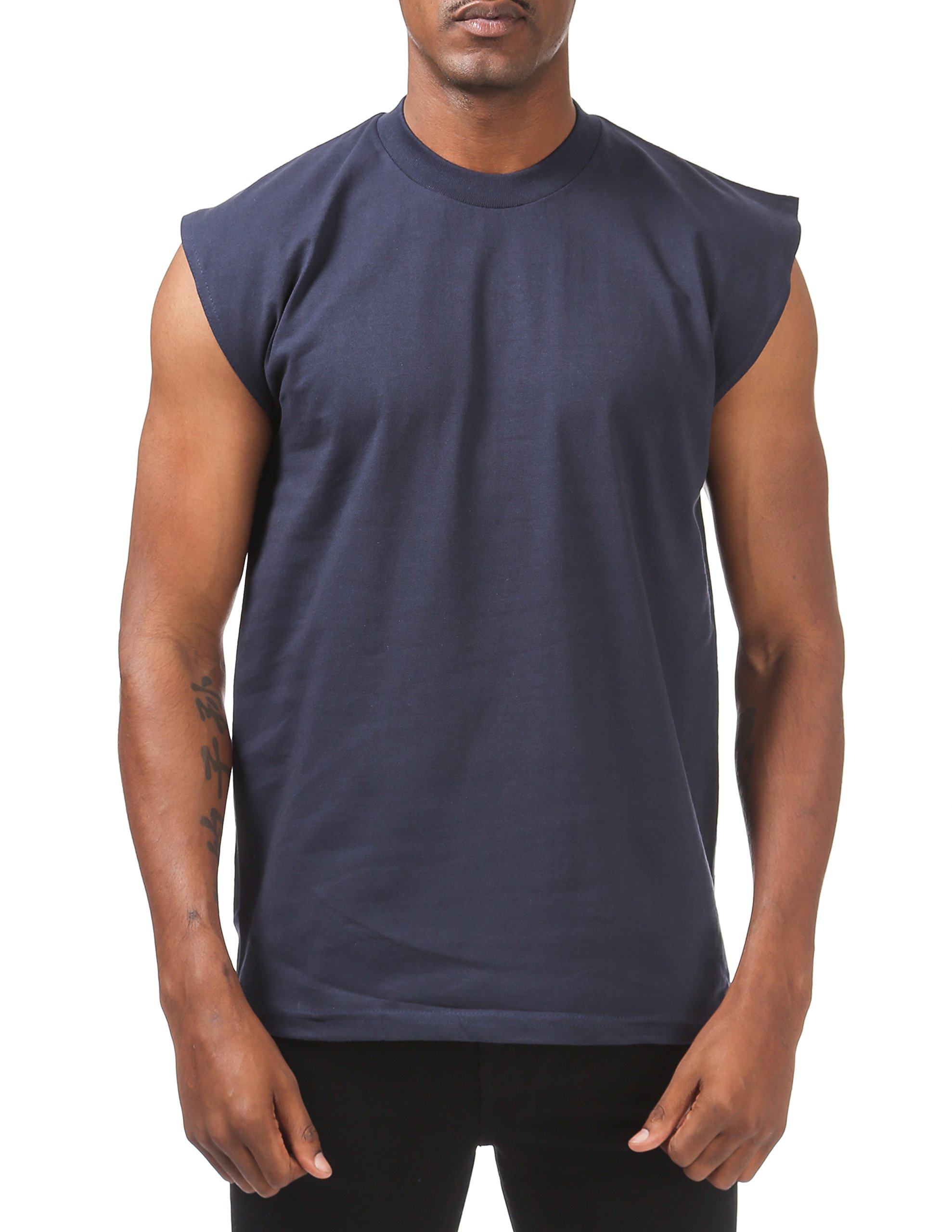 Pro Club Men's Heavyweight Sleeveless Muscle T-Shirt, Navy, 7X-Large by Pro Club