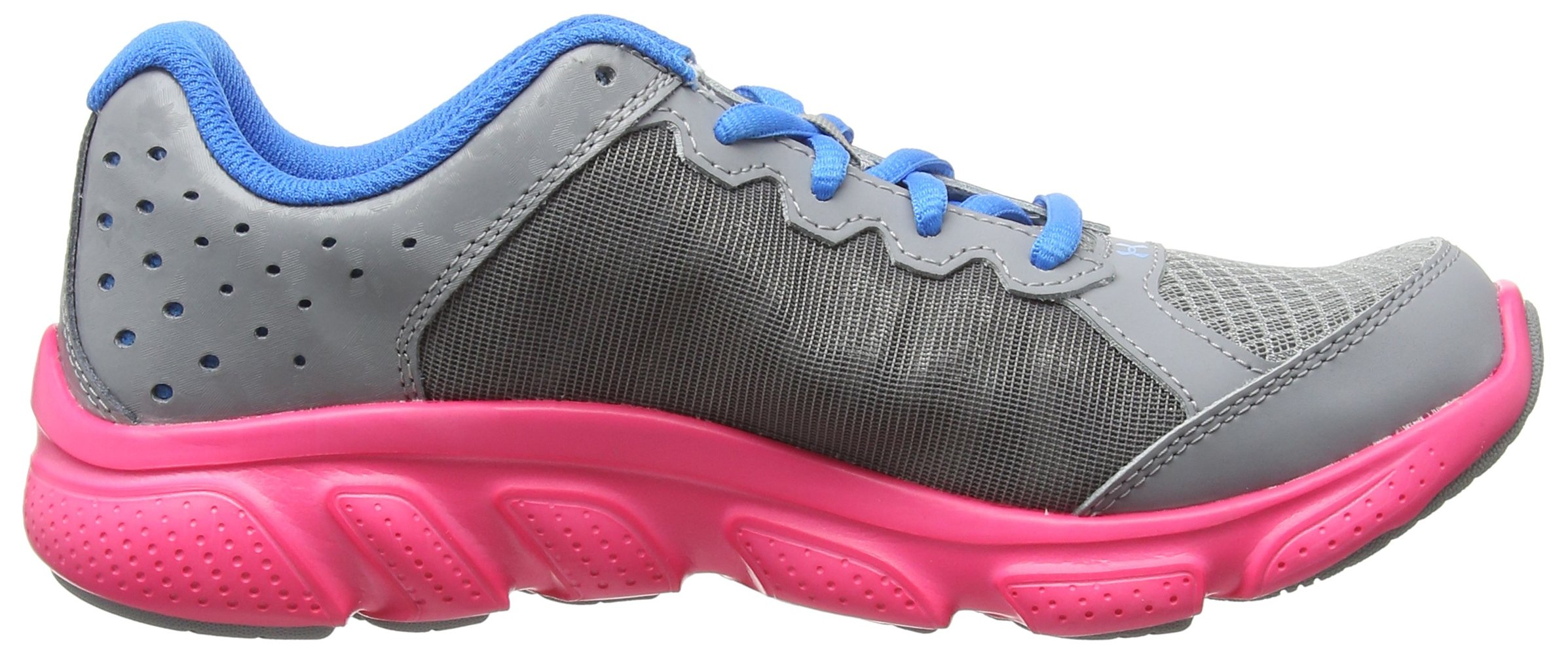 Under Armour Girls' Grade School Micro G Assert 6, Steel (036)/Harmony Red, 5.5 by Under Armour (Image #6)