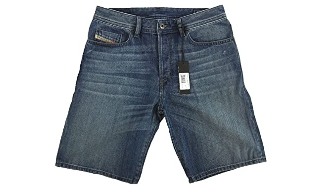 45906fb28c Diesel Men's Bustshort 0RZ38 Denim Shorts (Blue Denim, 28) at Amazon ...