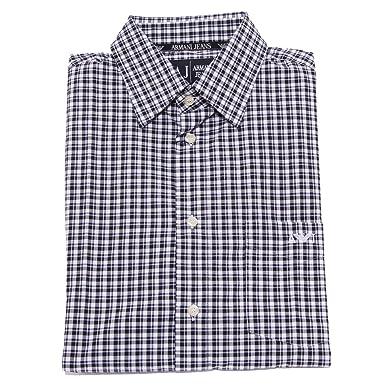 Camicia Men l Bluewhite 1554x Jeans Shirt Uomo Armani Regular Bqqw0PTd