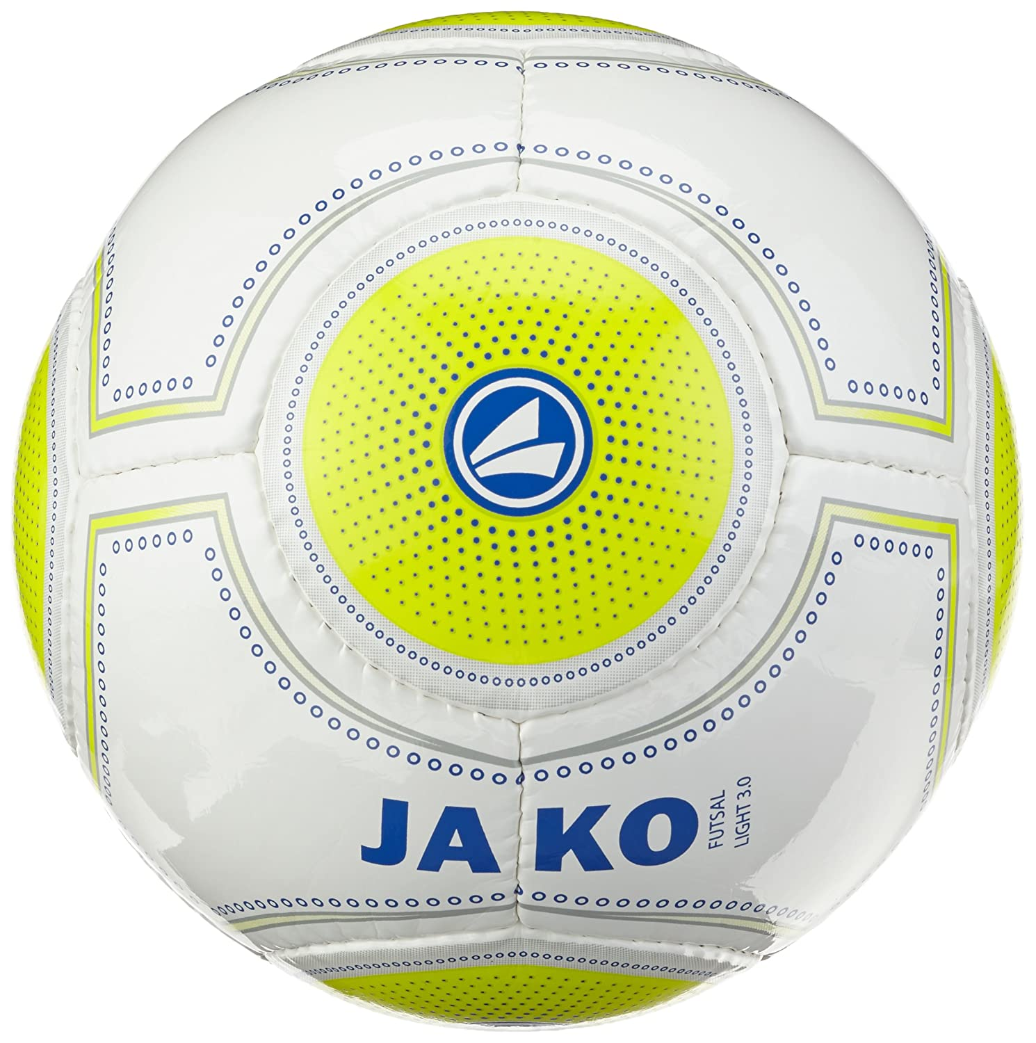 Jako Ballon de Football pour Foot en Salle Blanc/Jaune Light 3.0 Citron/Marine
