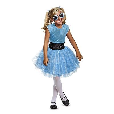 Bubbles Tutu Deluxe Costume, Blue, Medium (7-8): Toys & Games