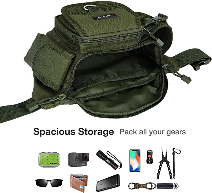 Fishing Waist Pack Fanny Hip Bag Tackle Lure Storage Multifunctional Outdoor New