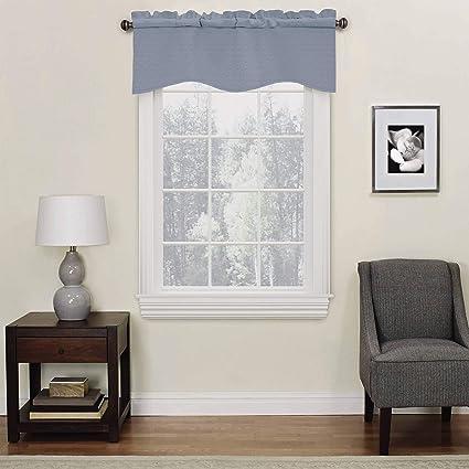 Eclipse Kendall Wave Curtain Valance, 42x18, Slate