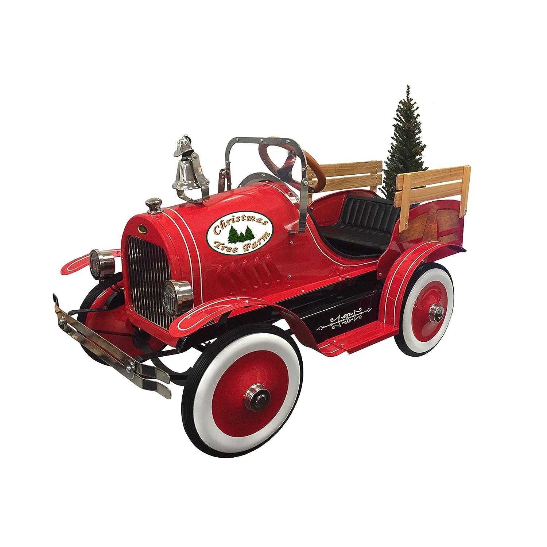 amazoncom dexton kid's christmas tree ride on delivery truck  - amazoncom dexton kid's christmas tree ride on delivery truck red toys games