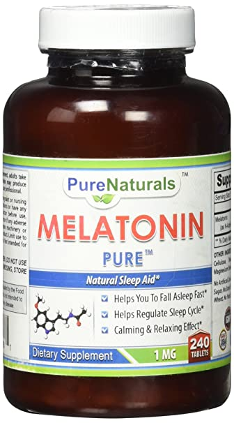 Pure Naturals Melatonin Tablets, 1 mg, 240 Count