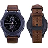 iBazal 20mm 22mm Watch Bands Straps Qucik Release Leather Metal Wristbands Bracelet for Gear/Galaxy Watch, Huawei, Pebble, Garmin, Ticwatch, Fossil, Moto, LG, Asus, Nokia, Mens Womens Watch