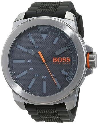 7265a9c94a5 Hugo Boss Orange - Montre Homme - Quartz - Analogique - Bracelet Silicone  Gris - 1513005