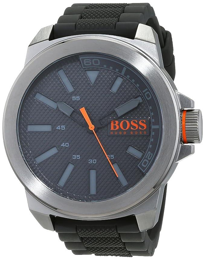 01008fa199b6 Hugo Boss Orange - Reloj para hombre - correa de silicona - 1513005   Amazon.es  Relojes