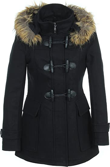 Zelia 11761F Manteau Duffle Coat Manches Longues Femme