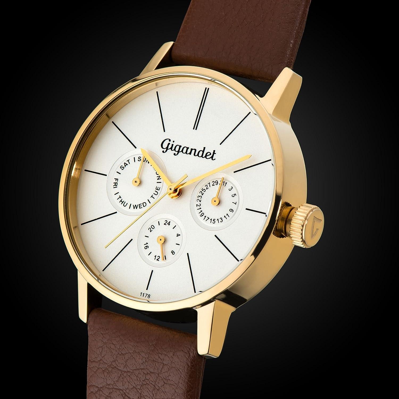 Gigandet G38-003 - Reloj para mujeres, correa de cuero color marrón: Gigandet: Amazon.es: Relojes