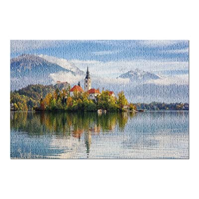 Bled Lake, Slovenia - Famous Alpine Amazing Autumn Landscape 9034800 (Premium 500 Piece Jigsaw Puzzle for Adults, 13x19, Made in USA!): Toys & Games