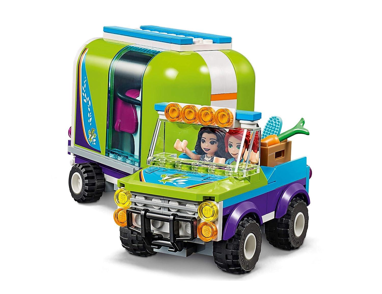 Lego Friends-Il Rimorchio dei Cavalli di Mia 41371 Set di Costruzioni per Bambini dai 6 Anni con Due Minidoll Mia ed Emma Multicolore