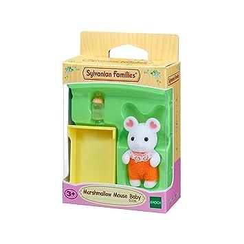Amazon.es: SYLVANIAN FAMILIES Sylvanian families-5336 bebé ratón Marshmallow, 5336, mutlicolore: Juguetes y juegos