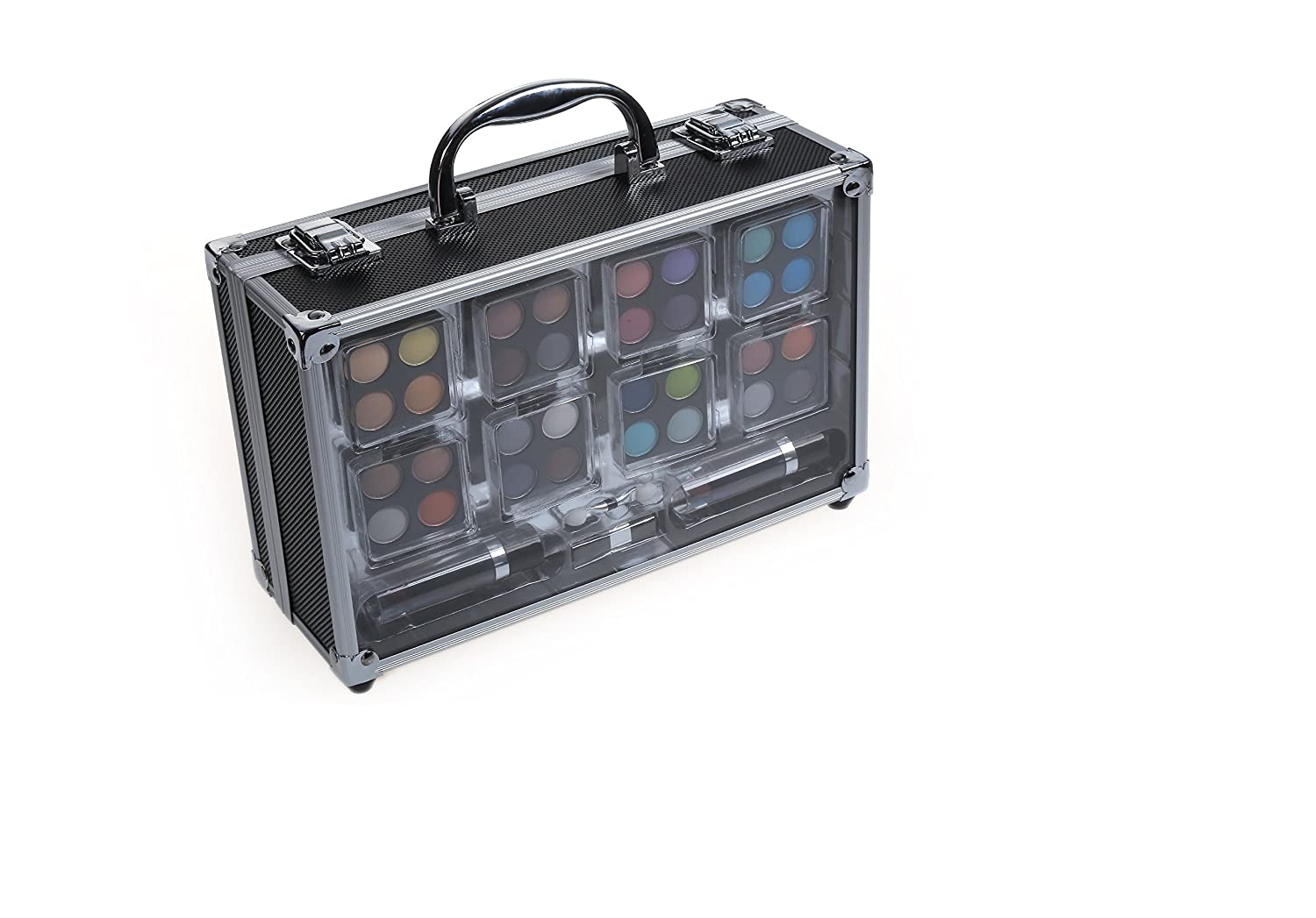 Cameo Professional Makeup Set With Reusable Train Case - A Complete 'On The Go' Cosmetics Set Perfect For Beginners Or Professionals