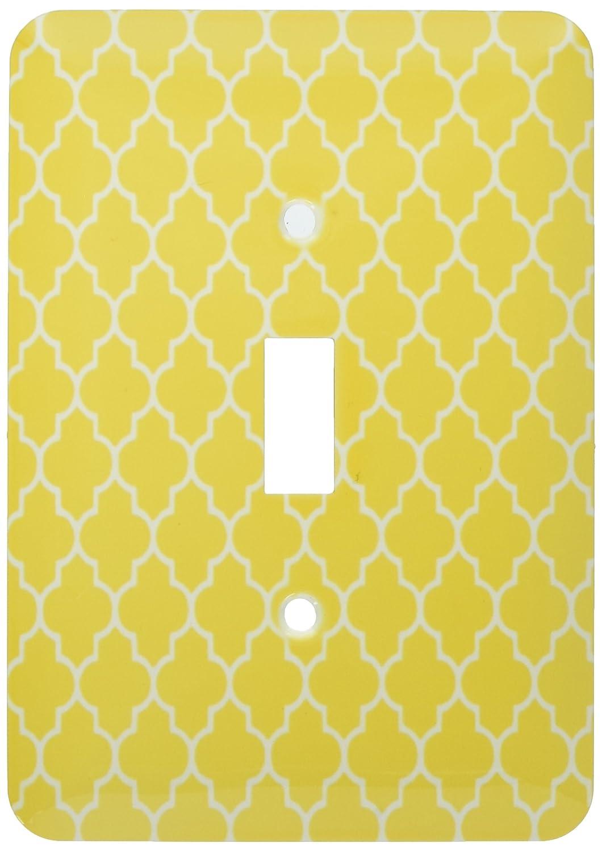 3drose LLC LLC lsp___ 120255_ 1イエロー四つ葉模様現代モロッコタイルモダンホワイト幾何クローバーラティスSingle切り替えスイッチ B00D9AQ5OI, HOMES interior/gift:9500f80b --- number-directory.top