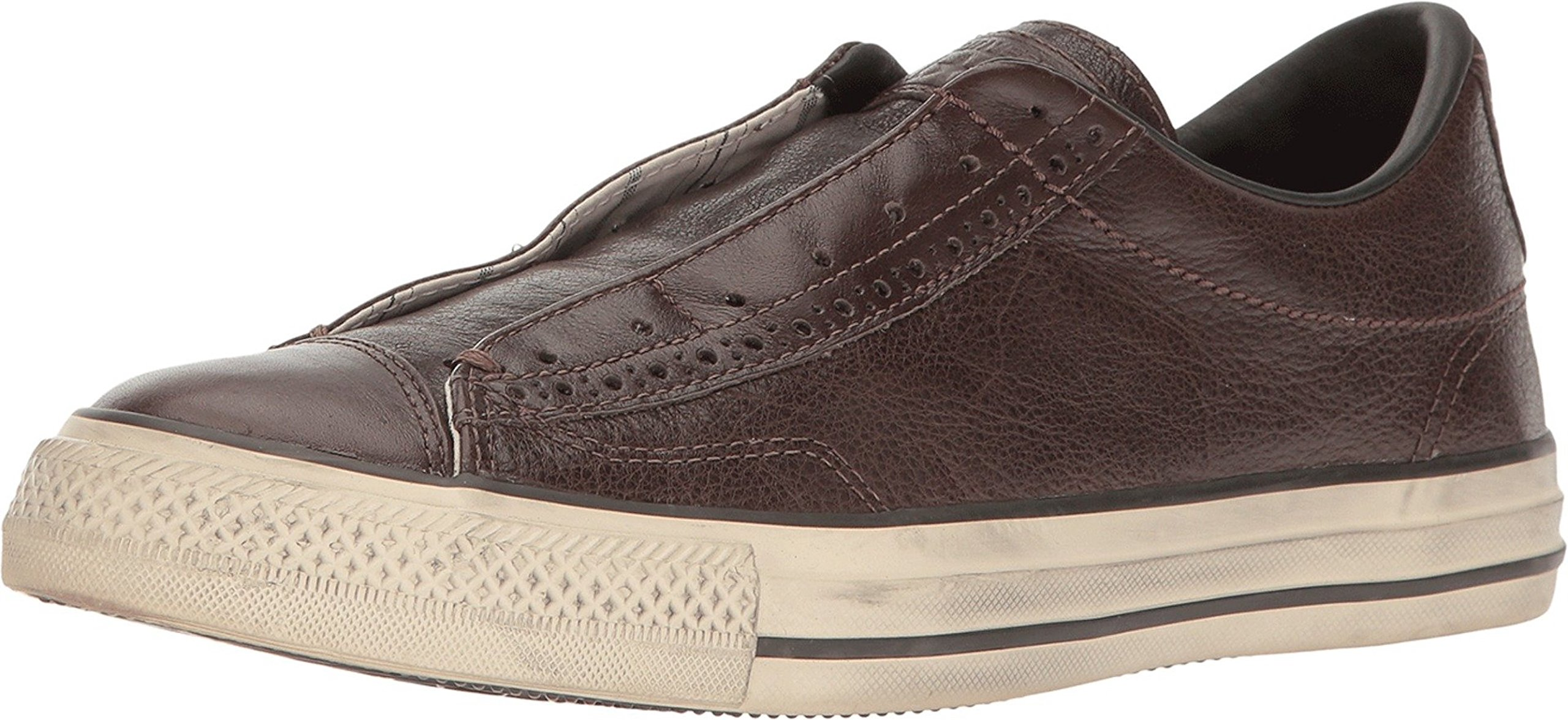 Converse by John Varvatos Leather Vintage Slip On Sneaker Chocolate Brown (10.5 M US)