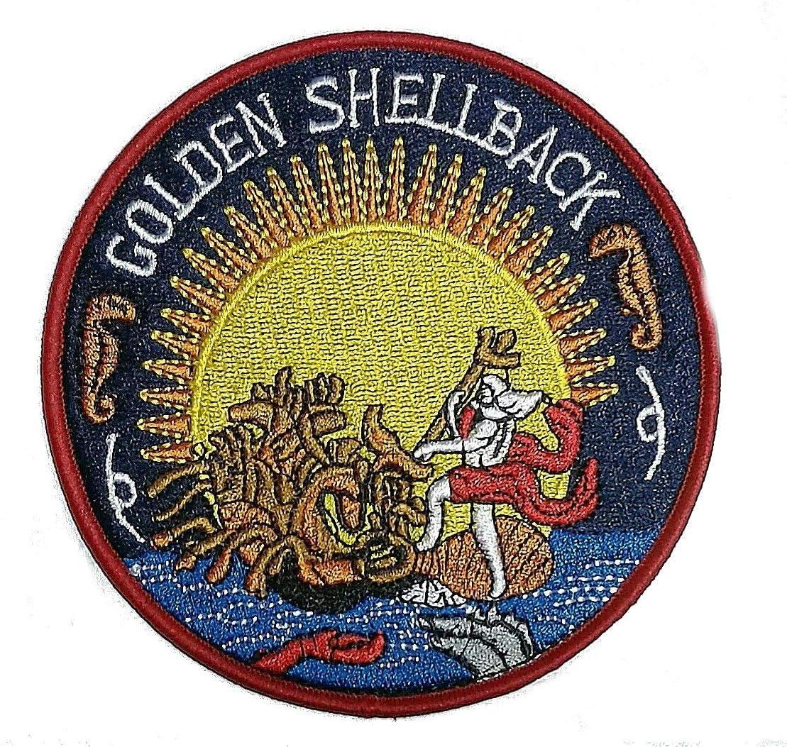 Dor/é Shellback Crossing du Equator brod/ée Chiffon Iron on Patch