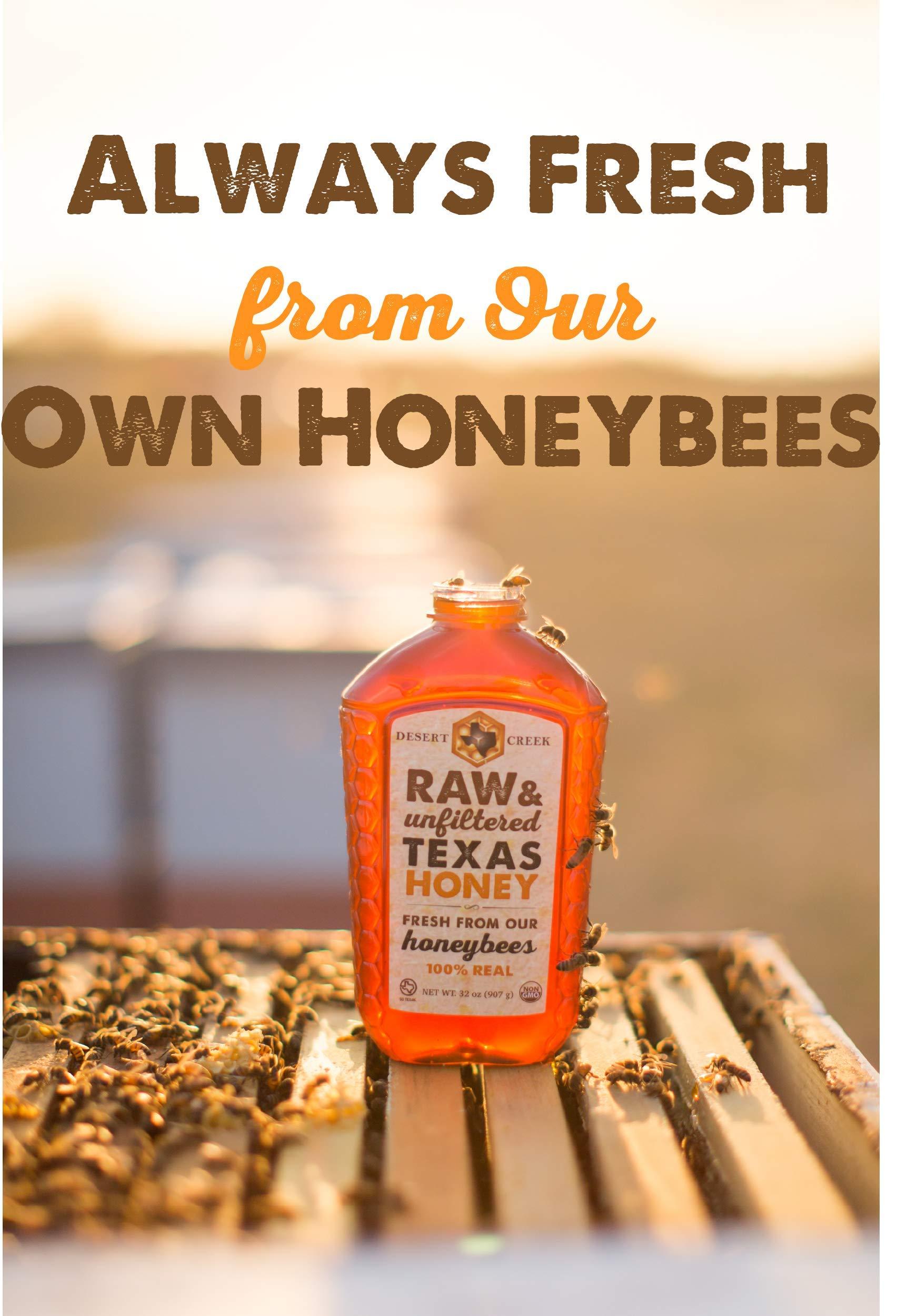 Raw, Unfiltered, Unpasteurized Texas Honey by Desert Creek Honey 5 Gallon (60 lbs) Bulk Bucket Non-GMO, Kosher by Desert Creek Honey (Image #4)
