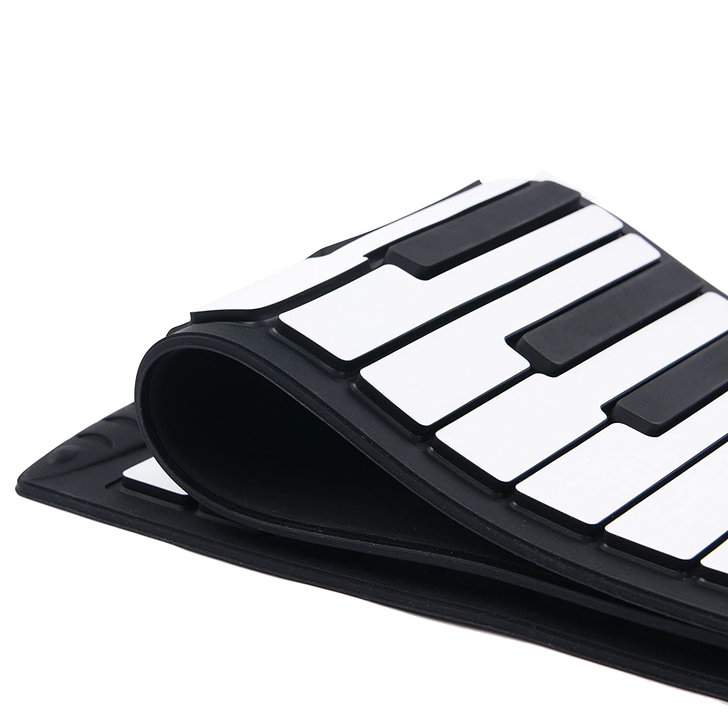 88 Keys Roll Up Piano Midi Out Music Recording Foot Pedals Flexible Silicone Midi Hand Roll Electronic Keyboard EnzoDate