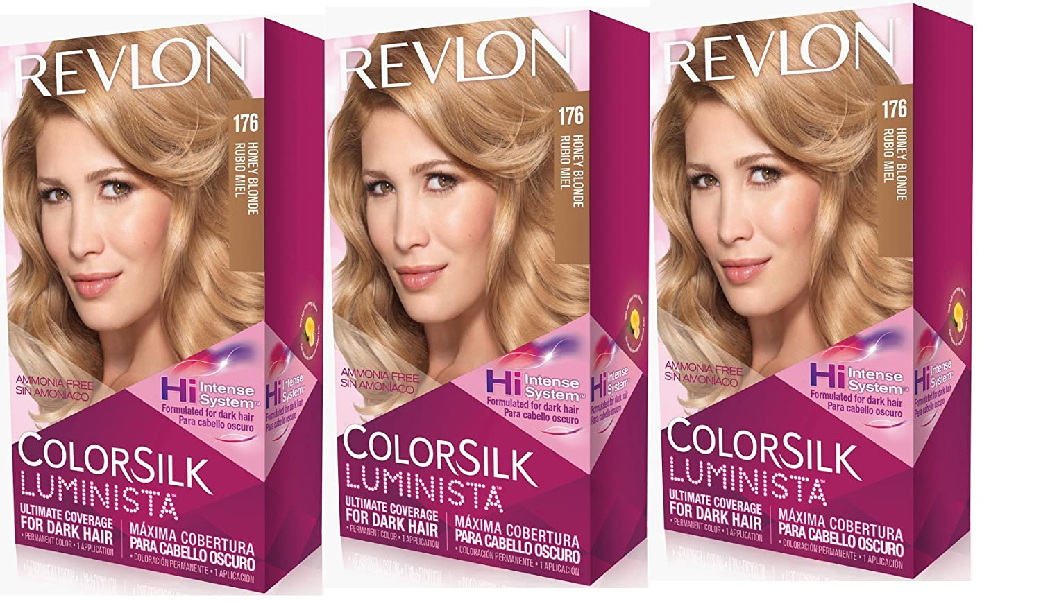 Amazon.com : Revlon Colorsilk Luminista Haircolor, Honey Blonde, 3 Count : Beauty