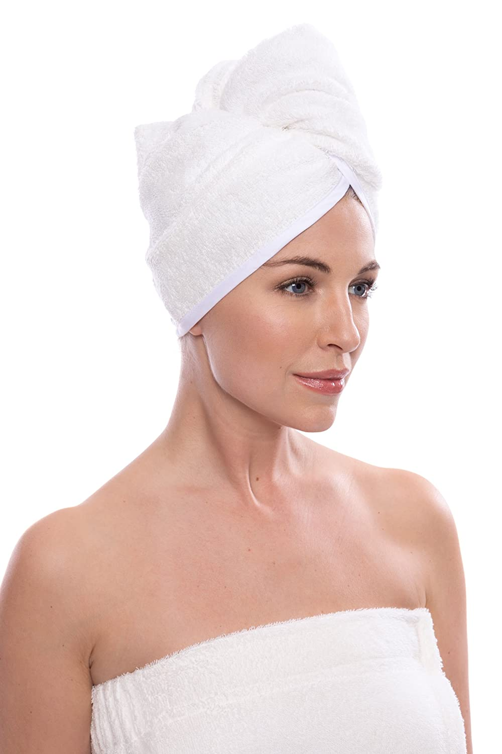 Women's Bamboo Hair Towel - Hair Drying Towel Wrap - Cotton Towel Hair Wrap AB0101-KHB-U