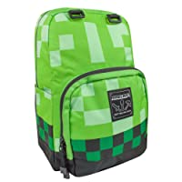 Minecraft Creeper Backpack Rucksack School Bag Large & Mini (Silver, Diamond & Creeper)