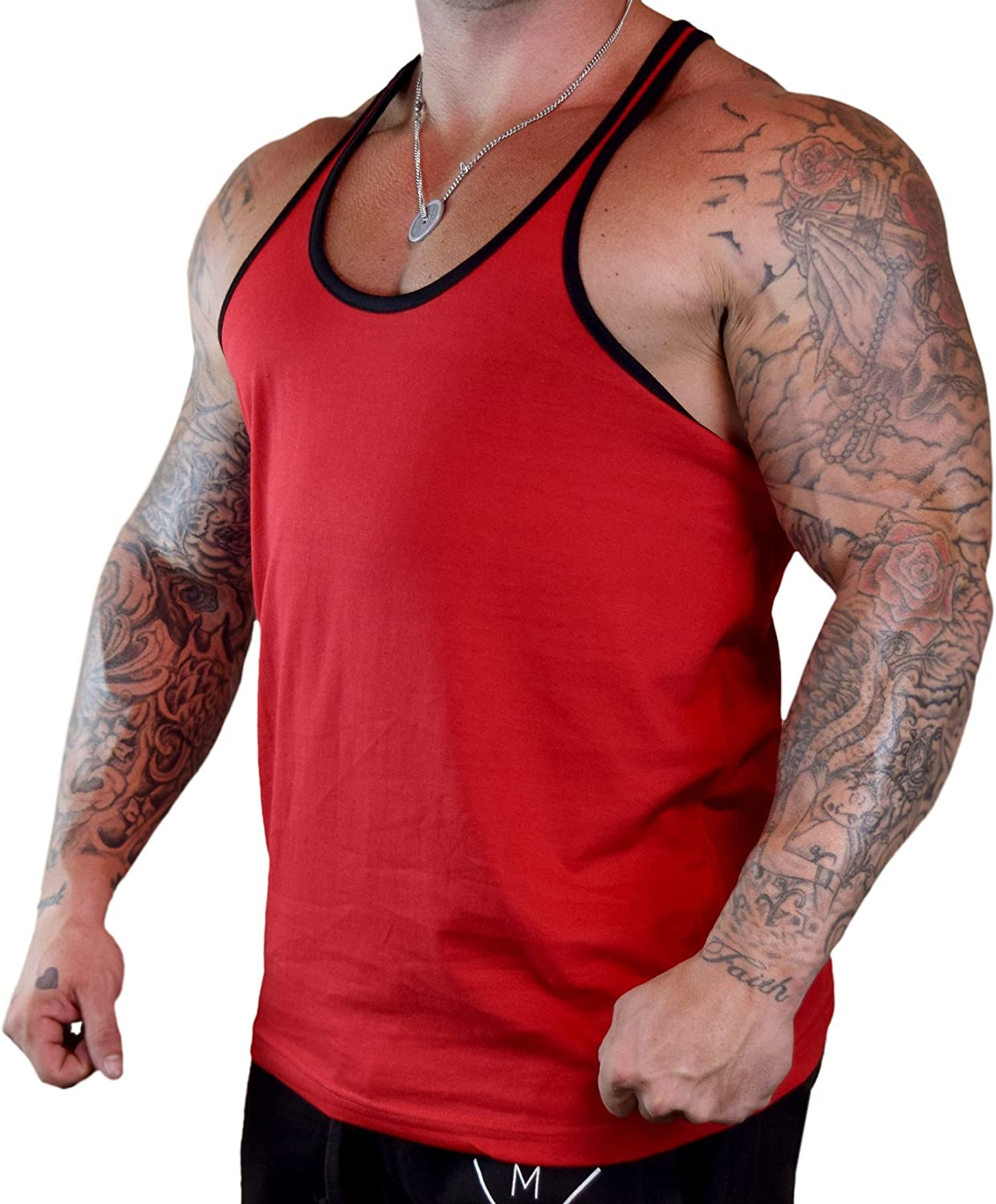 Mens FCK You Me Off Her This Him Red Tank Top Red
