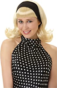 amscan 840804 Classic 50's Blonde Wig   1 Piece