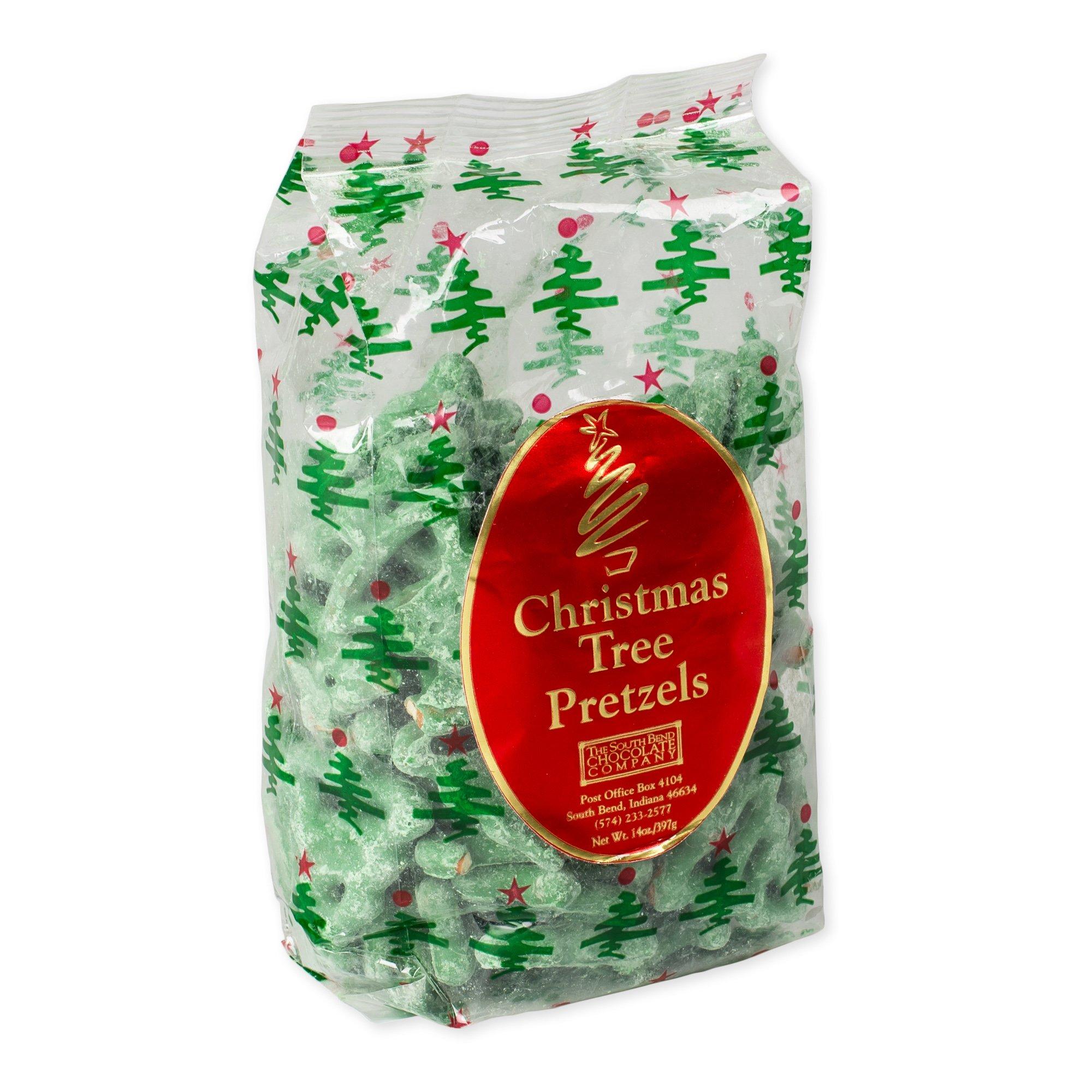 14 Oz Christmas Tree Mint Pretzels by South Bend Chocolate Company by The South Bend Chocolate Company