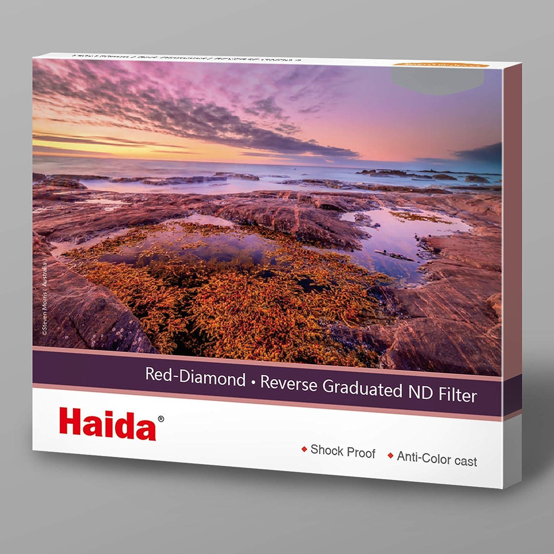 Haida Red Diamond Reverse Graduated ND 150x170mm Filter 3-Stops 0.9 Density