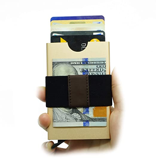 promo code a3779 92627 Smart Minimalist Wallet Slim RFID Blocking Credit Card Holder Pop Up Wallet