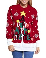 Simply Chic Outlet New Womens Ladies Xmas Novelty Christmas Plus Size Knitted Warm Jumper