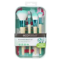 EcoTools Blooming Makeup Brushes with Storage Case and 3 Beauty Inspiration Cards...