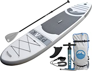 "Peak Inflatable 10'6 All Around Stand Up Paddle Board Complete Package (6"" Thick) 